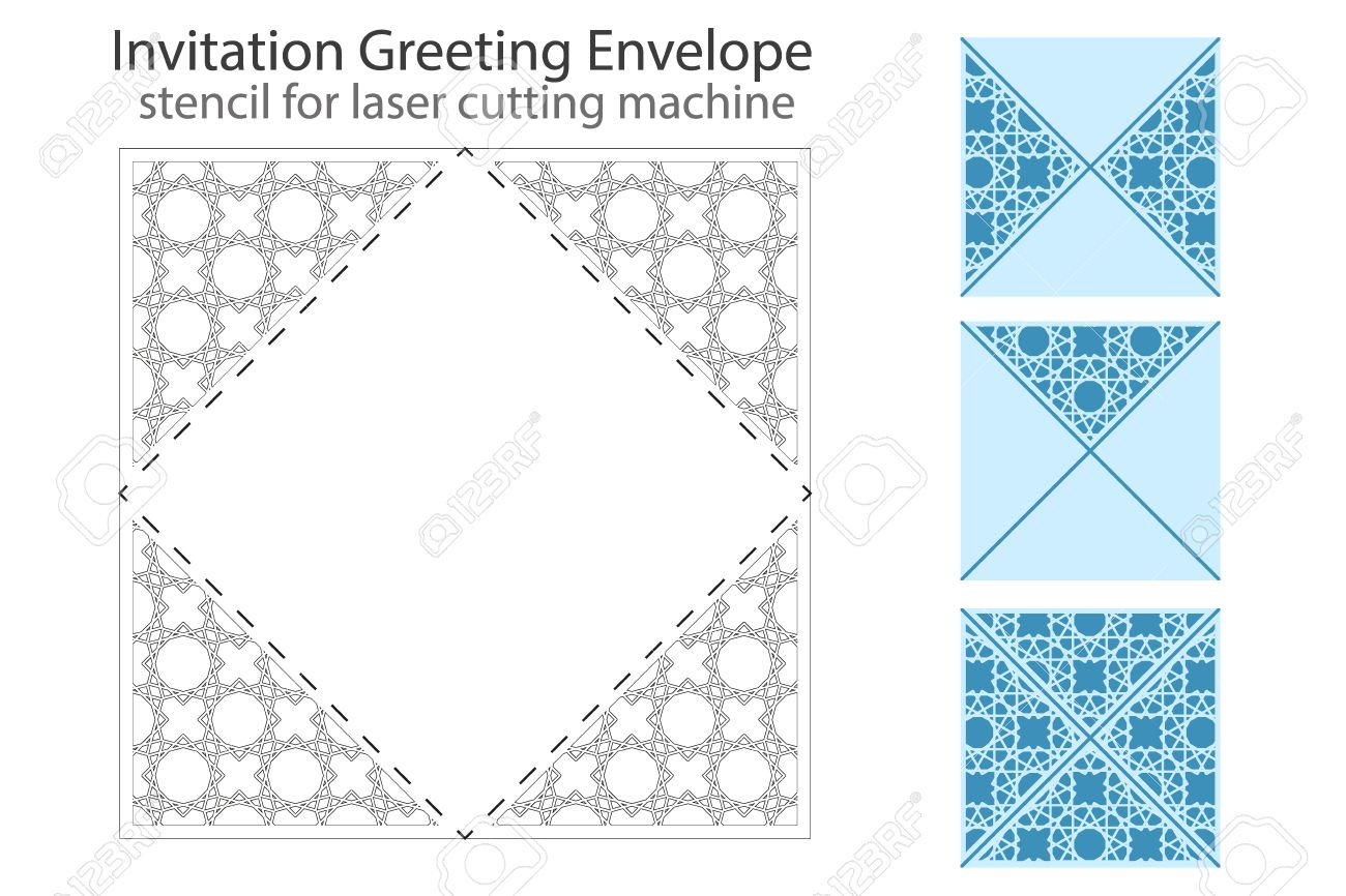 Envelope template for laser cutting square format die of wedding envelope template for laser cutting square format die of wedding and invitation card stopboris Choice Image
