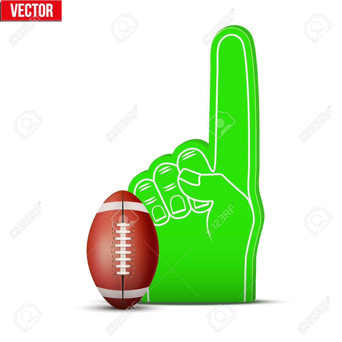 Símbolo De Fútbol Americano Fan De Deportes De Espuma Dedos Y La ...