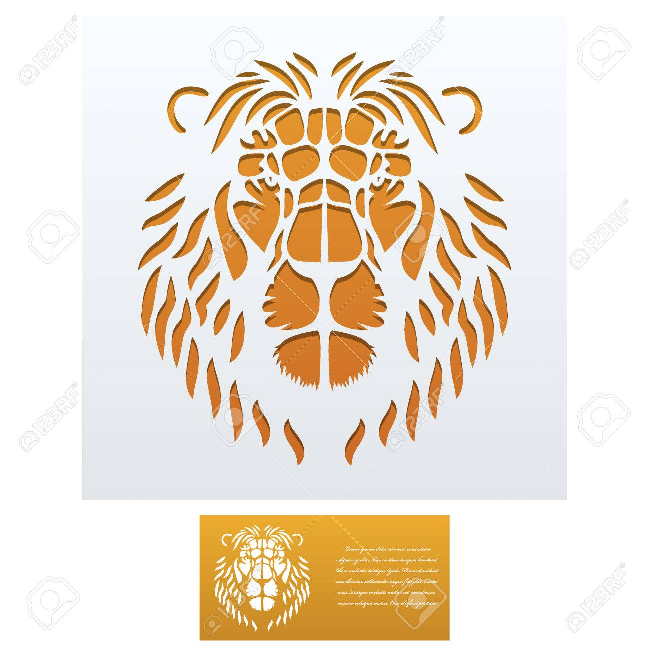 Envelope template with lion head for laser cutting square format envelope template with lion head for laser cutting square format die of wedding and stopboris Gallery