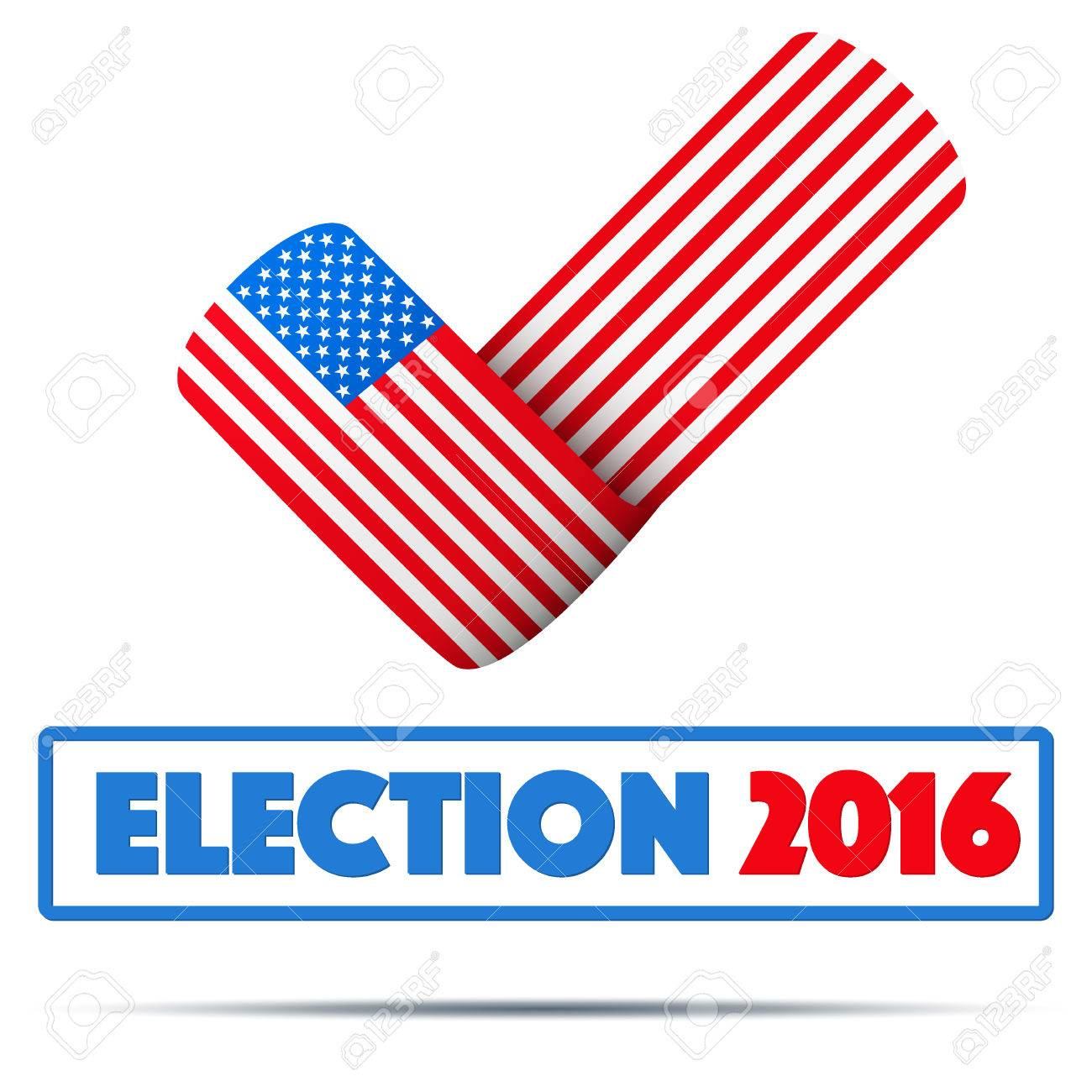 Symbol of election 2016 check mark symbol in the form of american symbol of election 2016 check mark symbol in the form of american flag editable biocorpaavc Image collections