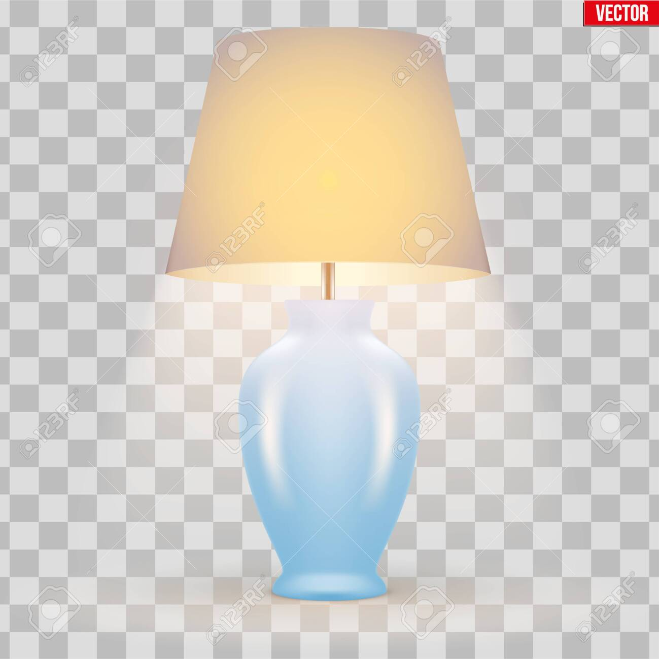 Classic Decorative Table Lamp Sample Model With Bowl And Silk Royalty Free Cliparts Vectors And Stock Illustration Image 121663789