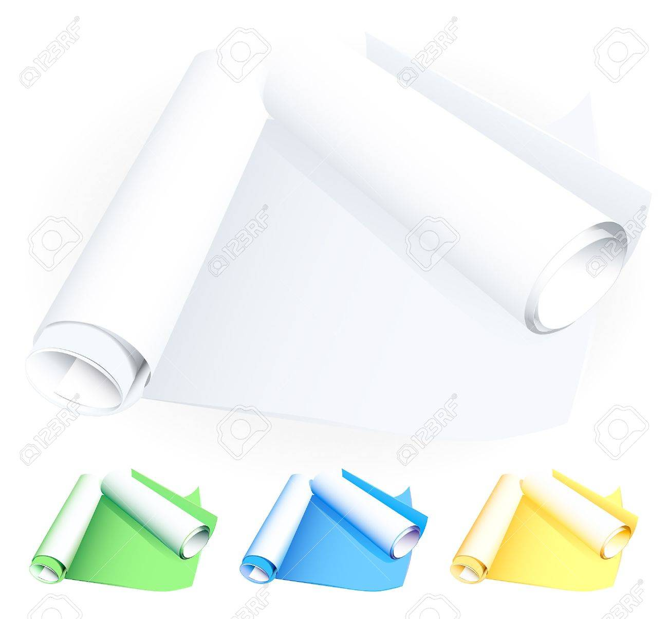 Rolled blueprints Stock Vector - 11349821