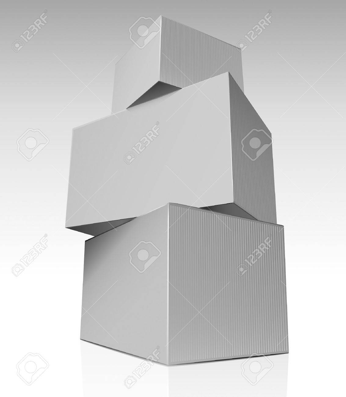 Stack of boxes Stock Vector - 11966521