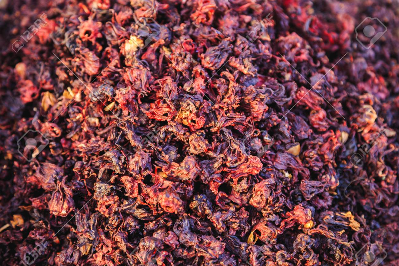 Dried Hibiscus Flowers Karkade Tea Stock Photo Picture And Royalty