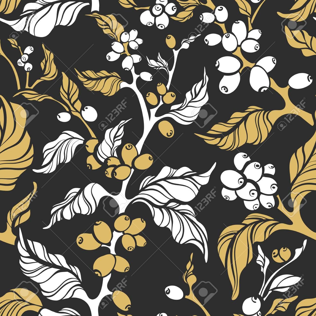 Vector Nature Seamless Pattern. Art Deco Elegant Design. Realistic ...