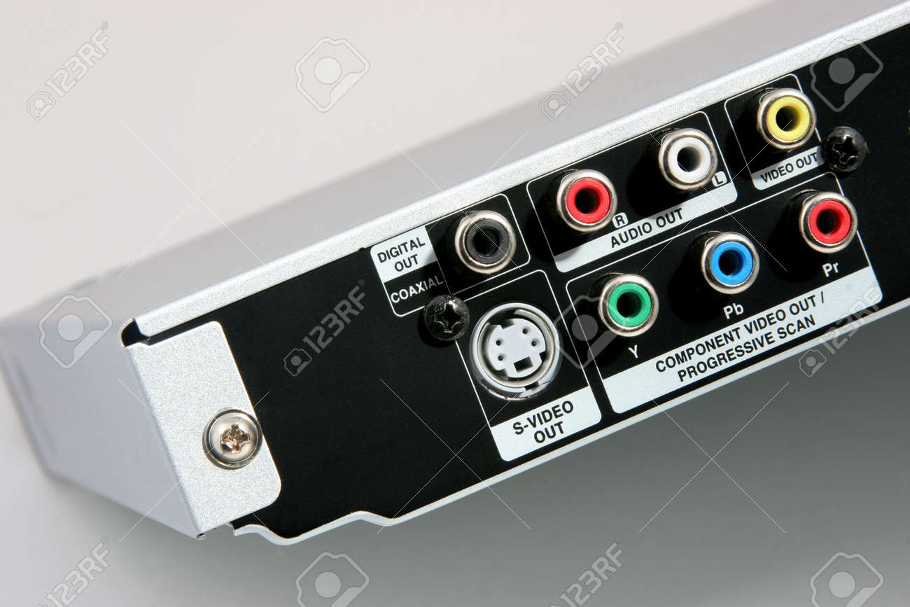 Back Of A DVD Player With Connections For Cables Stock Photo ...