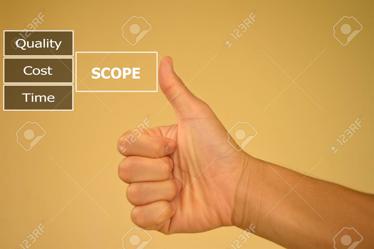 Pressing Like Scope Of Work With Small Detail Stock Photo