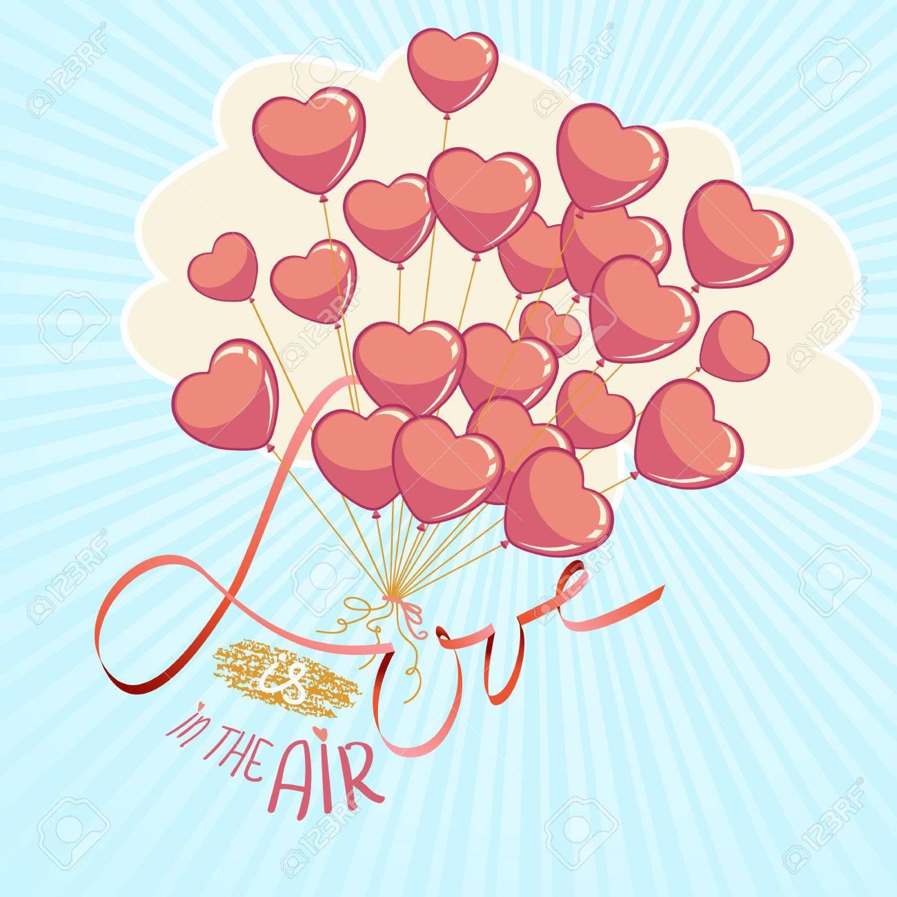 Dia De San Valentin O Ilustracion Vectorial Tarjeta De La Plantilla