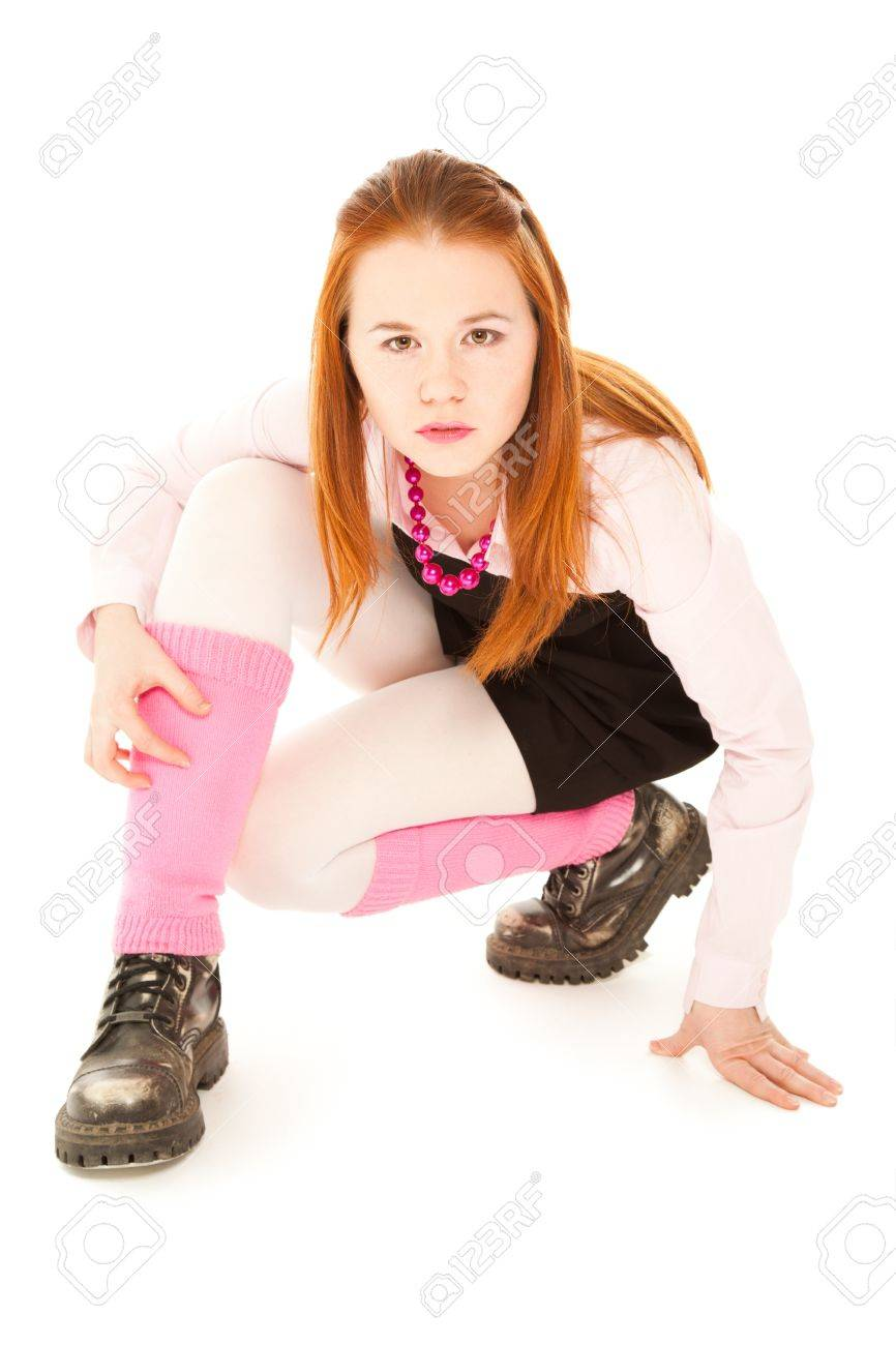 Teenager girl in colorful clothes looking to the camera Stock Photo - 17505041