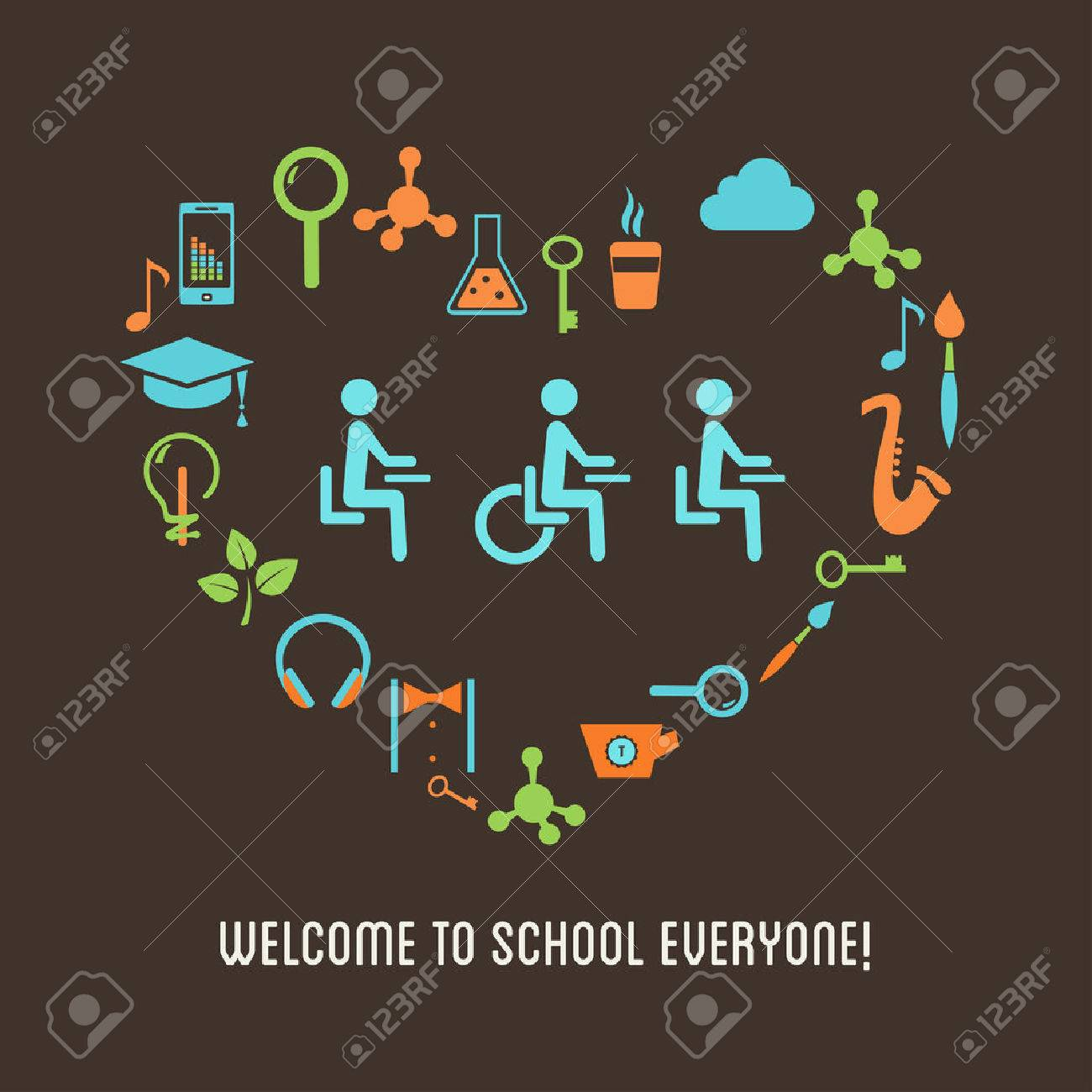 Special Needs Students Inclusion Education Concept - 59990386