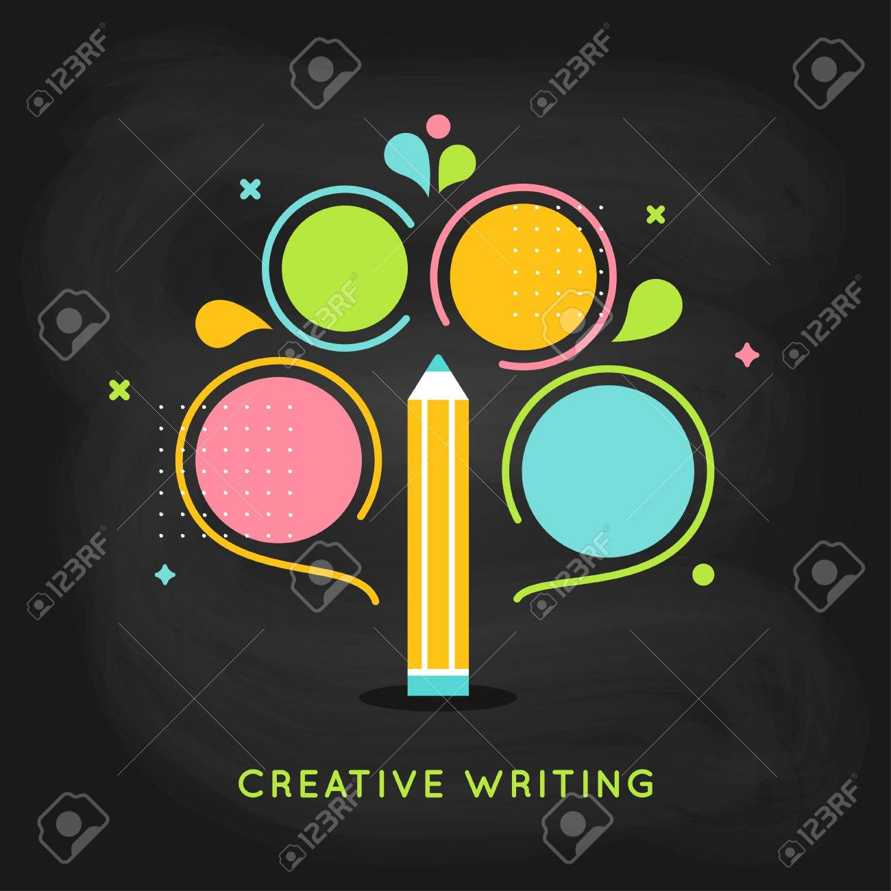 creative writing plan info graphics template on chalkboard background stock vector 61117025