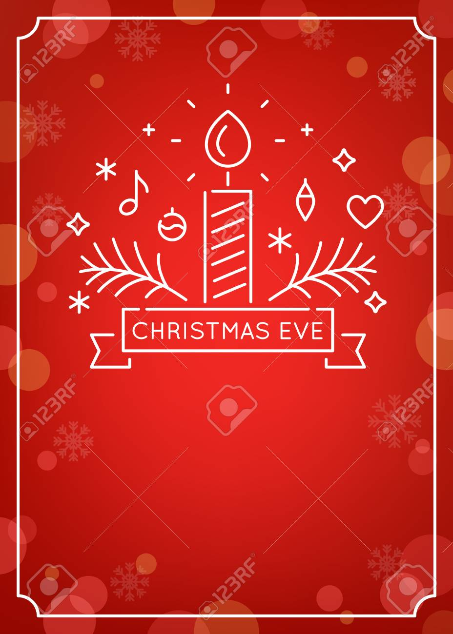 Candle And Ornaments Outline Christmas Eve Candlelight Service Royalty Free Cliparts Vectors And Stock Illustration Image 110428190