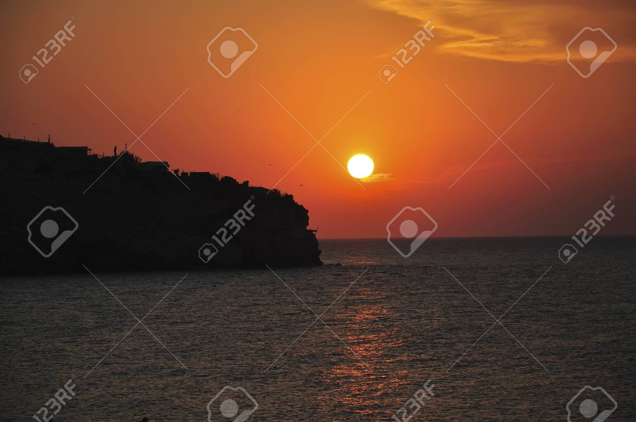 sunset at the bay Stock Photo - 15576526