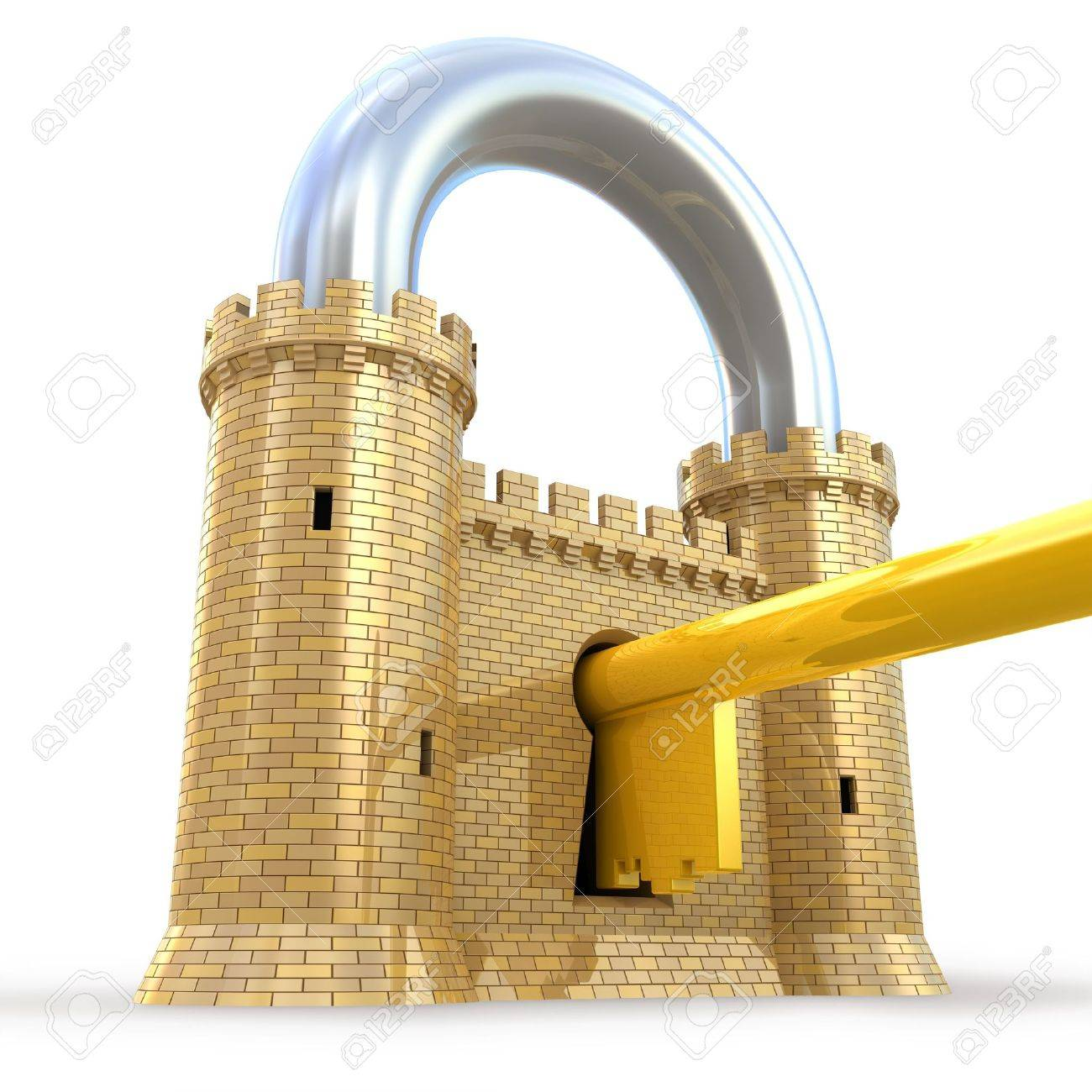 Mighty fortress as a padlock - 8037410