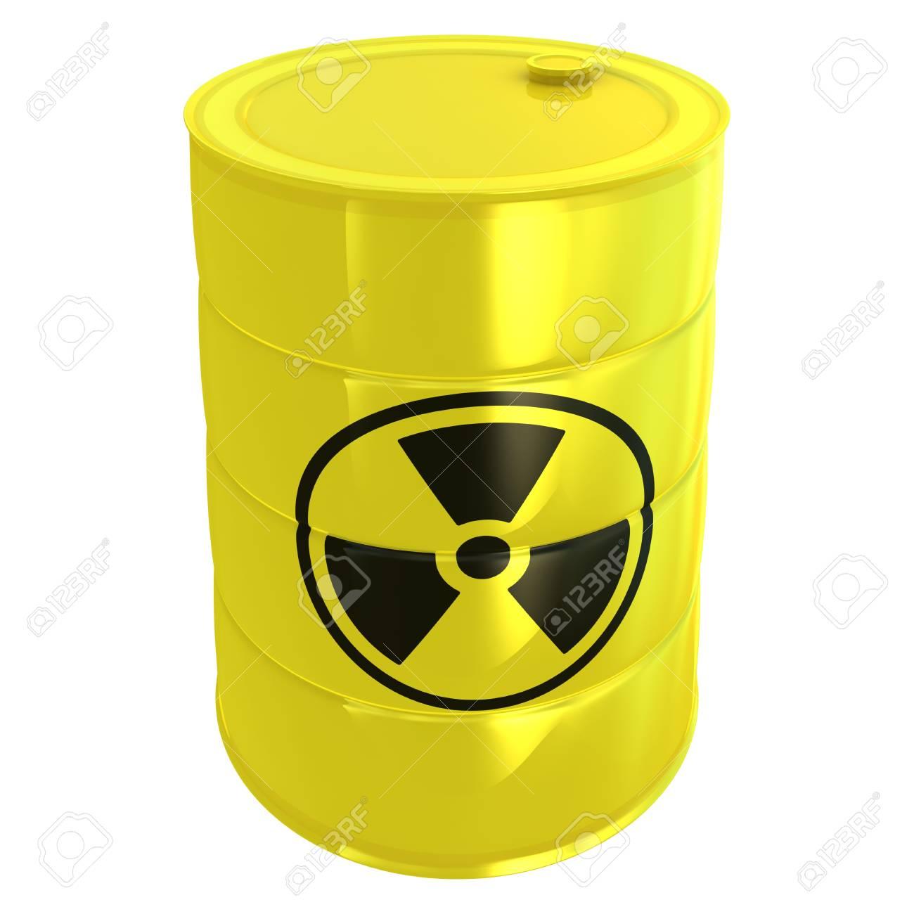 radioactive tank isolated on white Stock Photo - 9096651