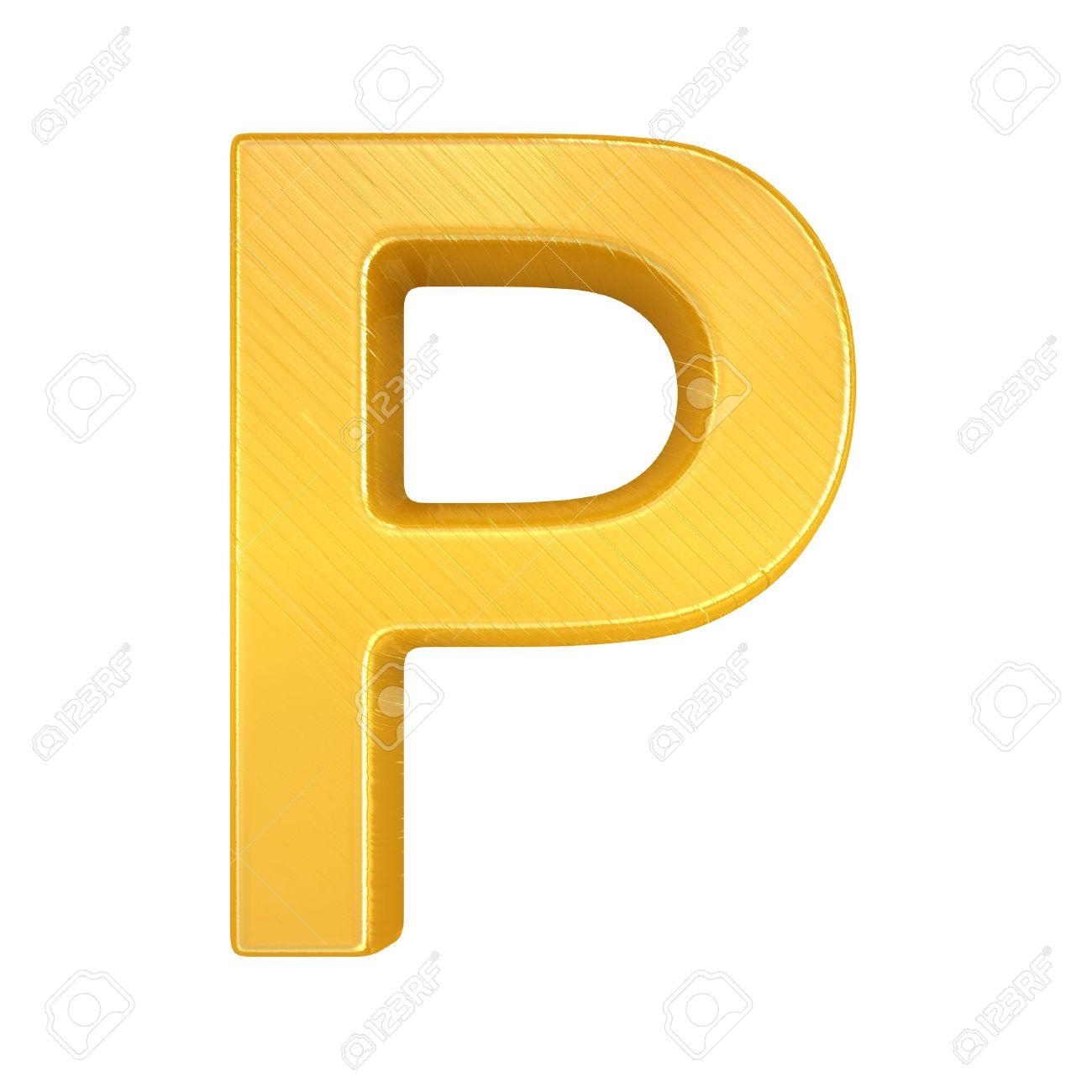 Golden Letter P  letter  gold  Yellow Letter P