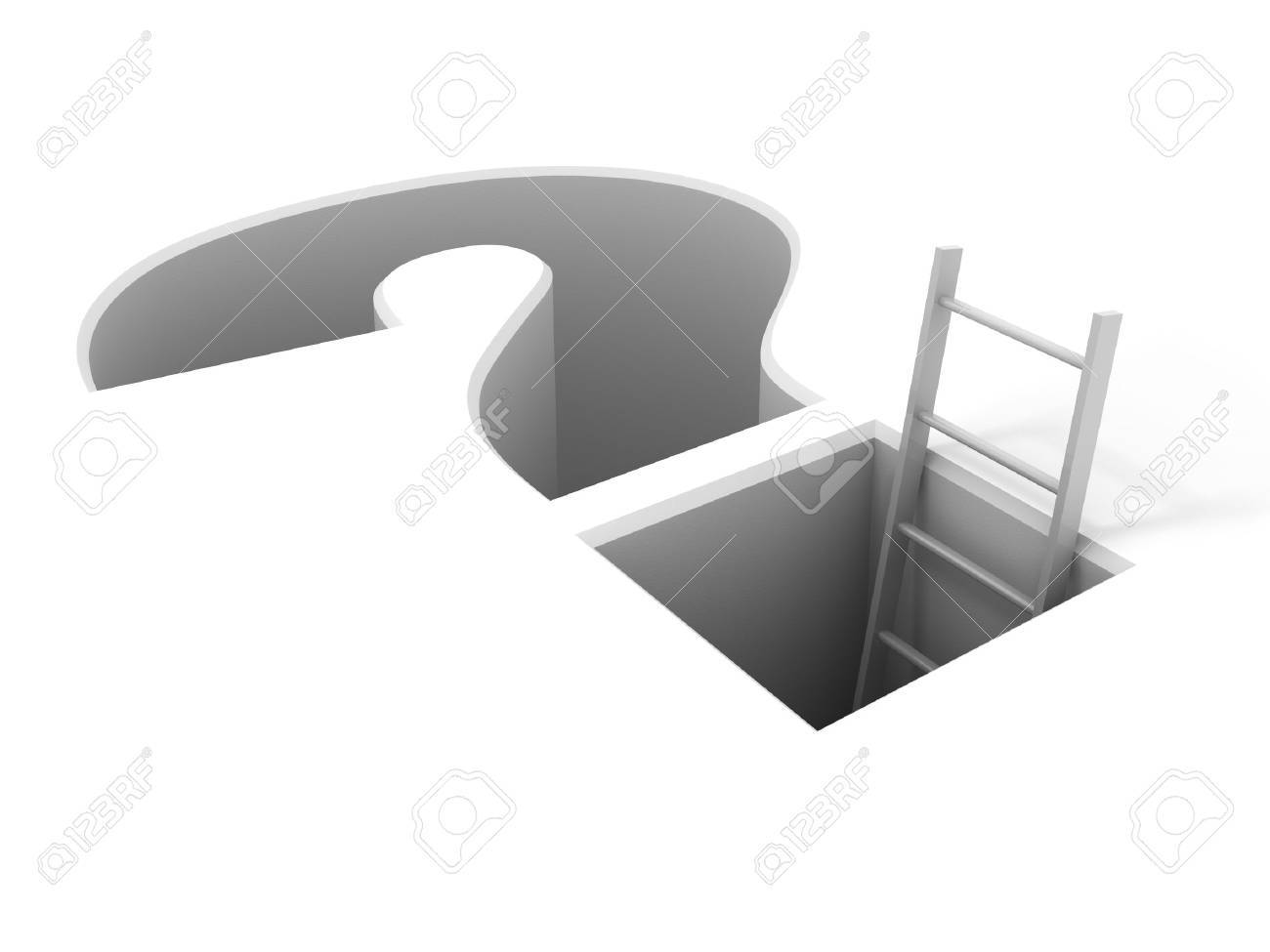 A ladder leading from the problem Stock Photo - 9720698