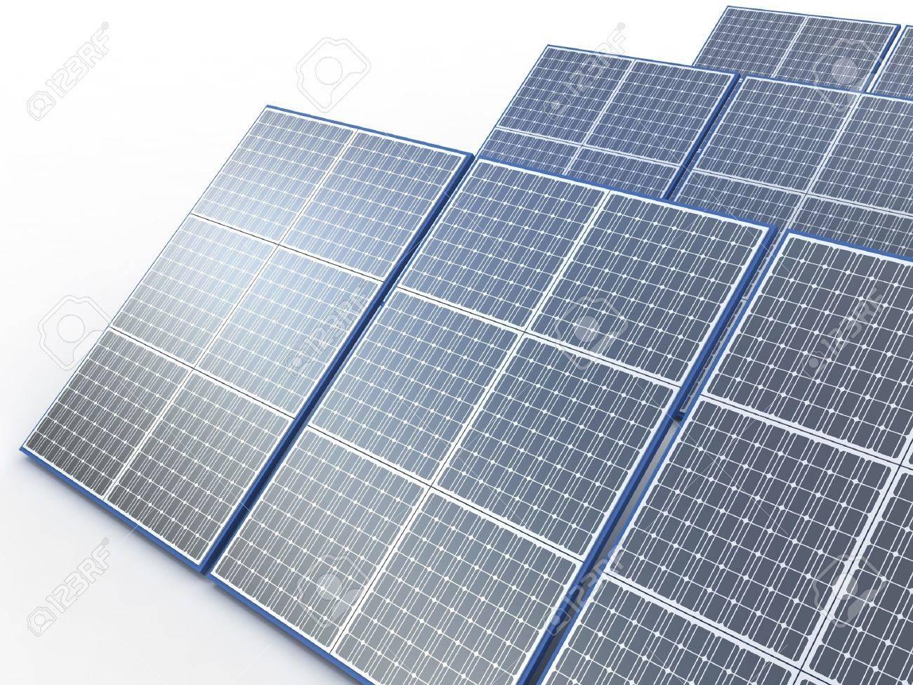 Solar plant. Renewable energy concept on white Stock Photo - 10212928
