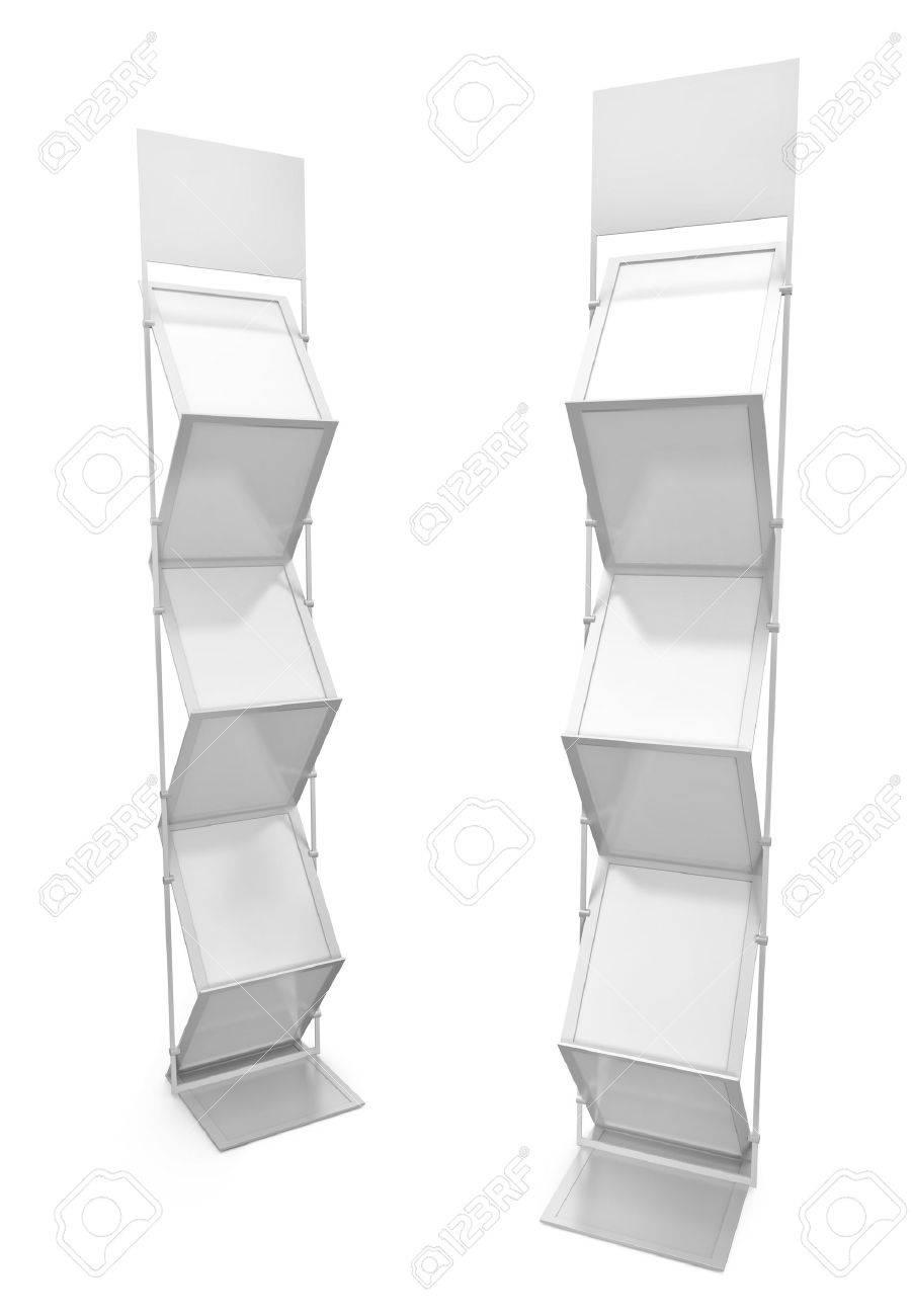 Two empty brochure stands. 3D render. Stock Photo - 8670926