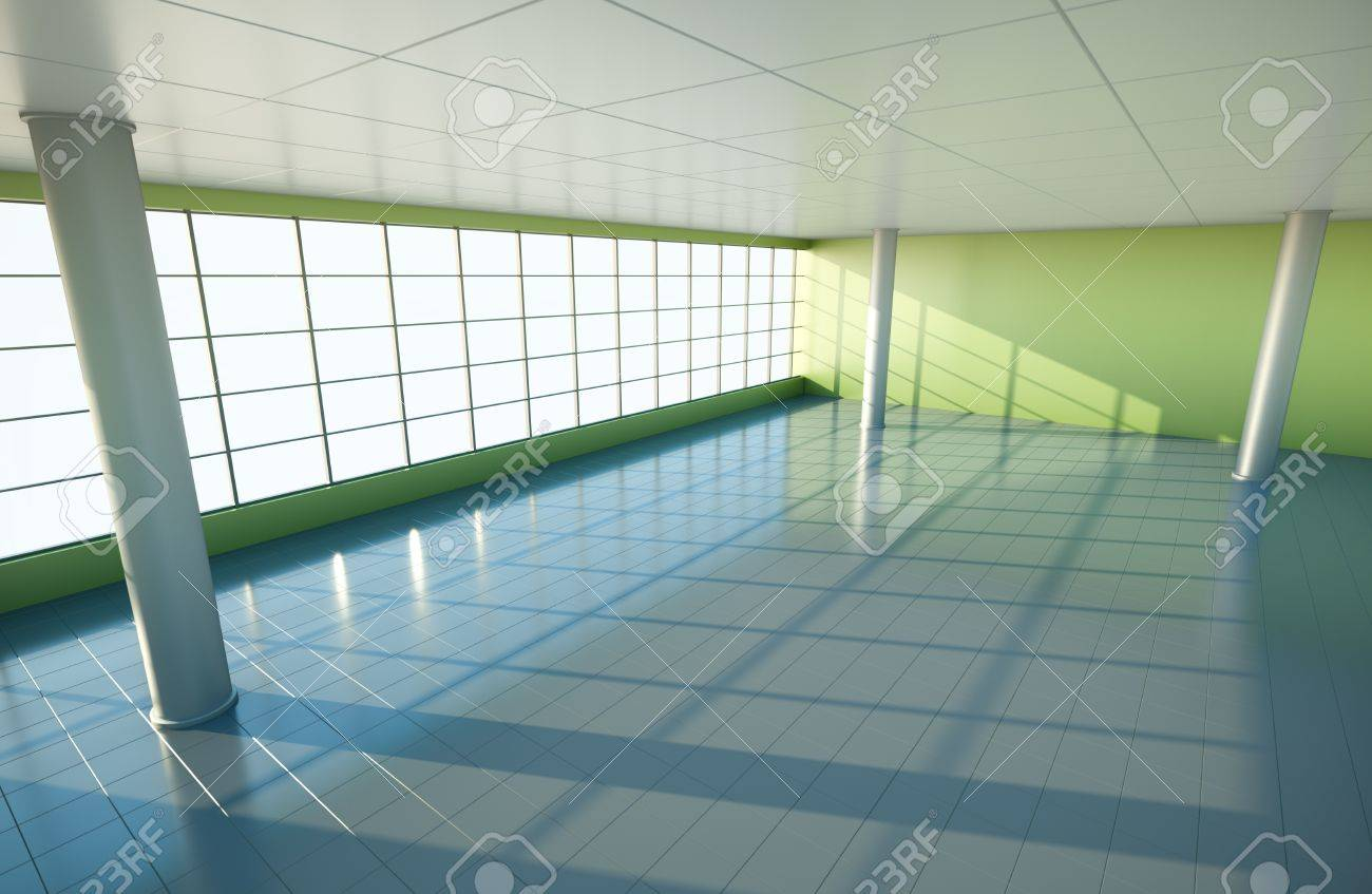 large empty interior 3d render stock photo 8980101