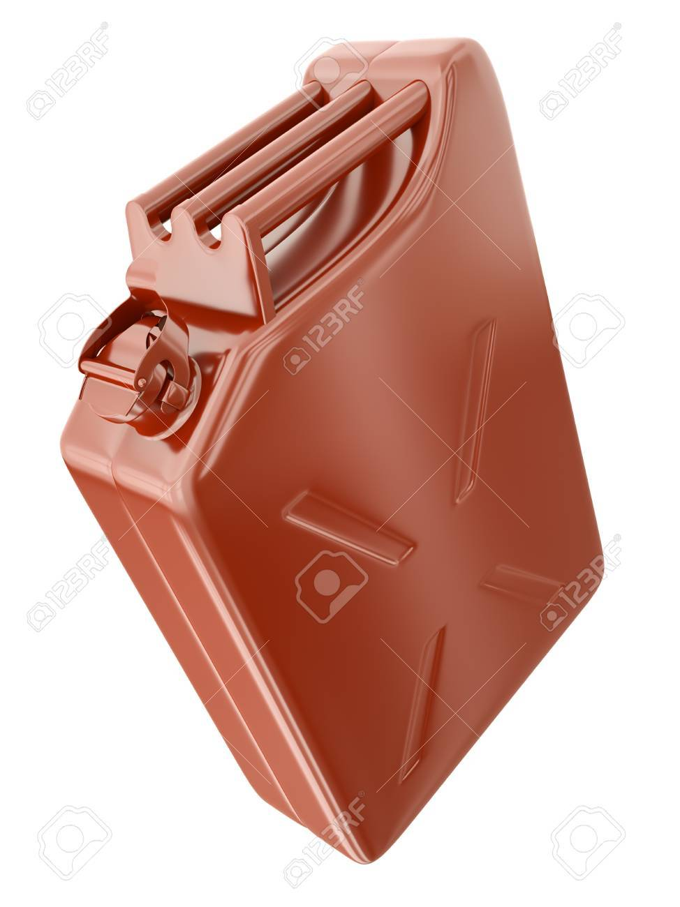 Red fuel container isolated on white background. 3D render. Stock Photo - 10407752