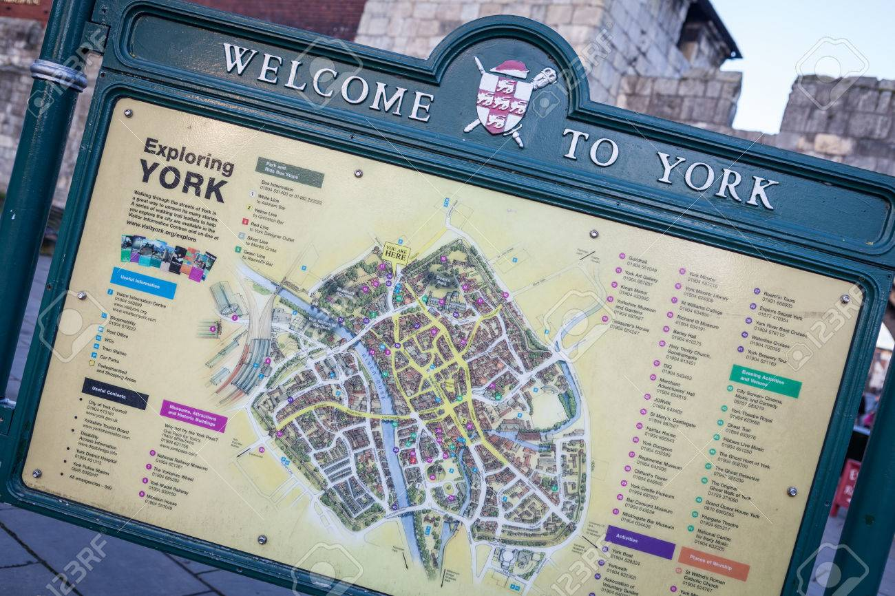 York United Kingdom December 22 2013 Welcome To York Sign – United Kingdom Tourist Attractions Map