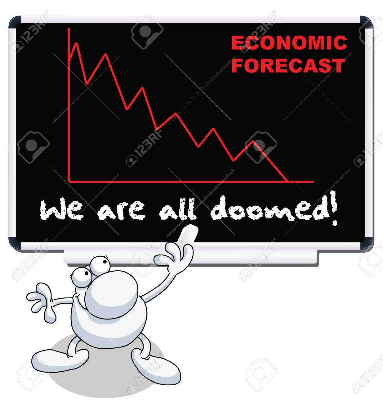Man with we are all doomed economic forecast Stock Vector - 11665901