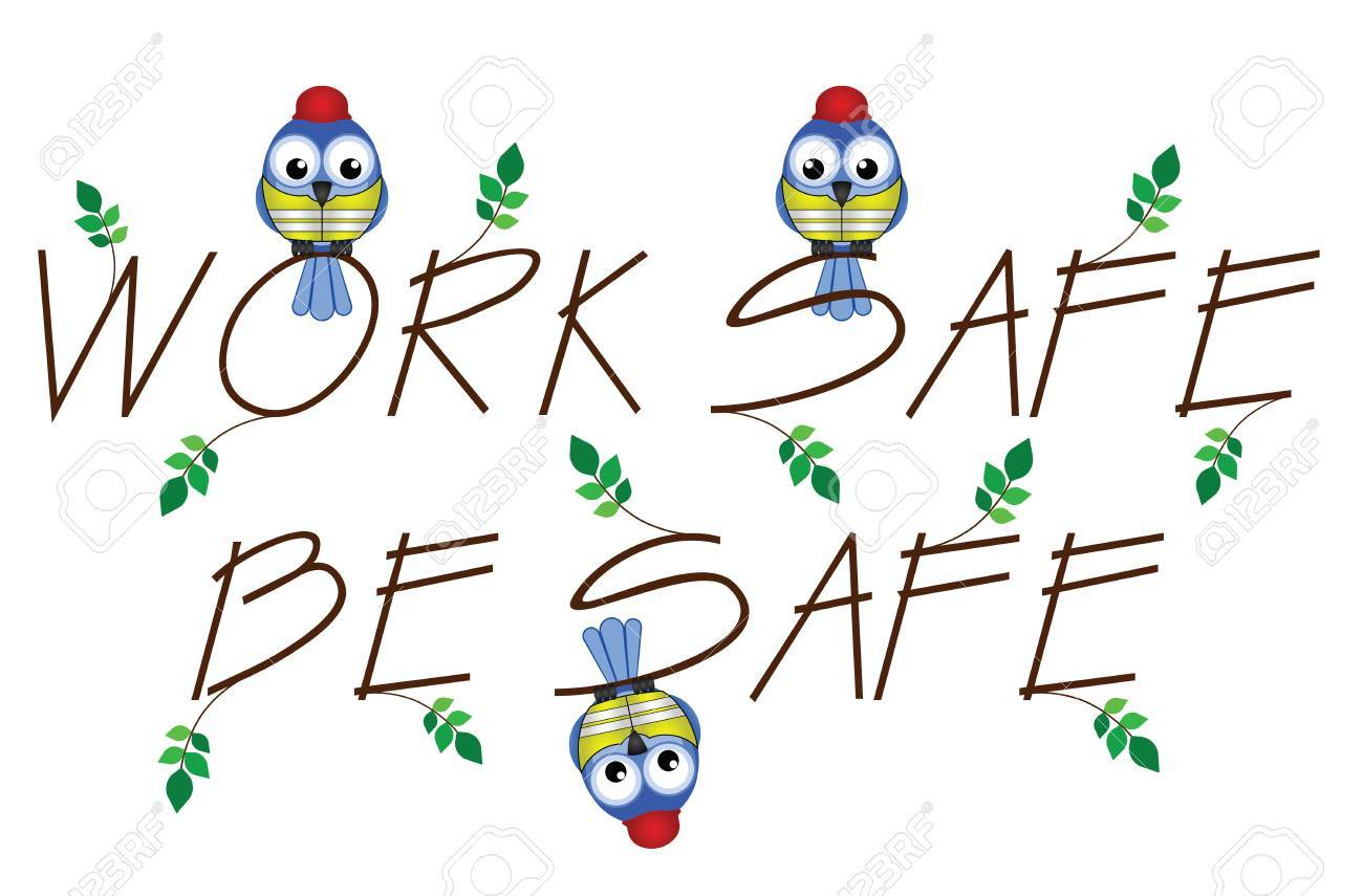Work Safe Be Safe twig text isolated on white background Stock Vector - 13724692