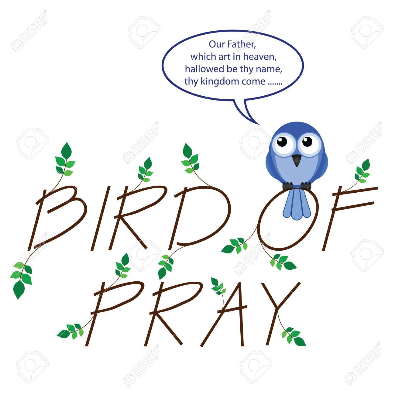 Comical take on bird of pray isolated on white background Stock Vector - 13794226