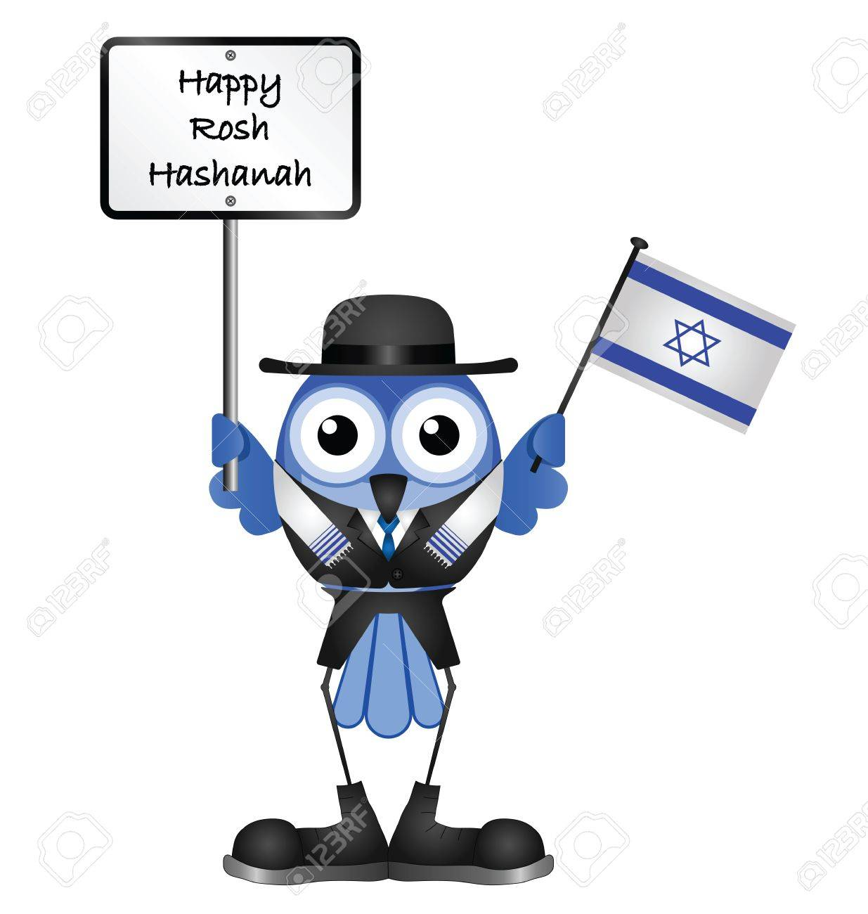 Happy Rosh Hashanah message isolated on white background Stock Vector - 15870421