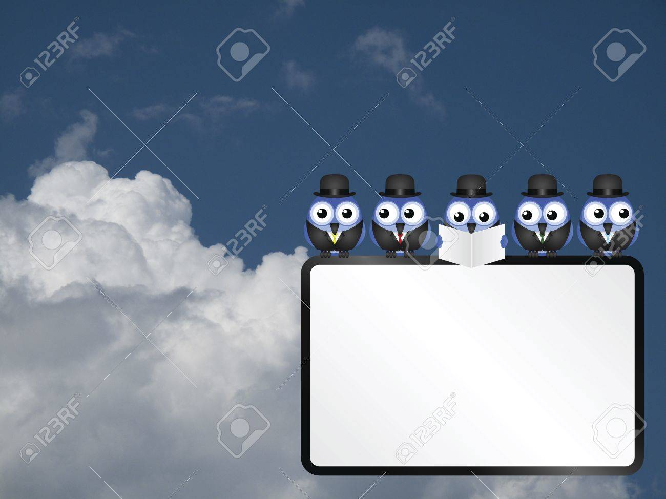 blank business sign with copy space for own text against a cloudy