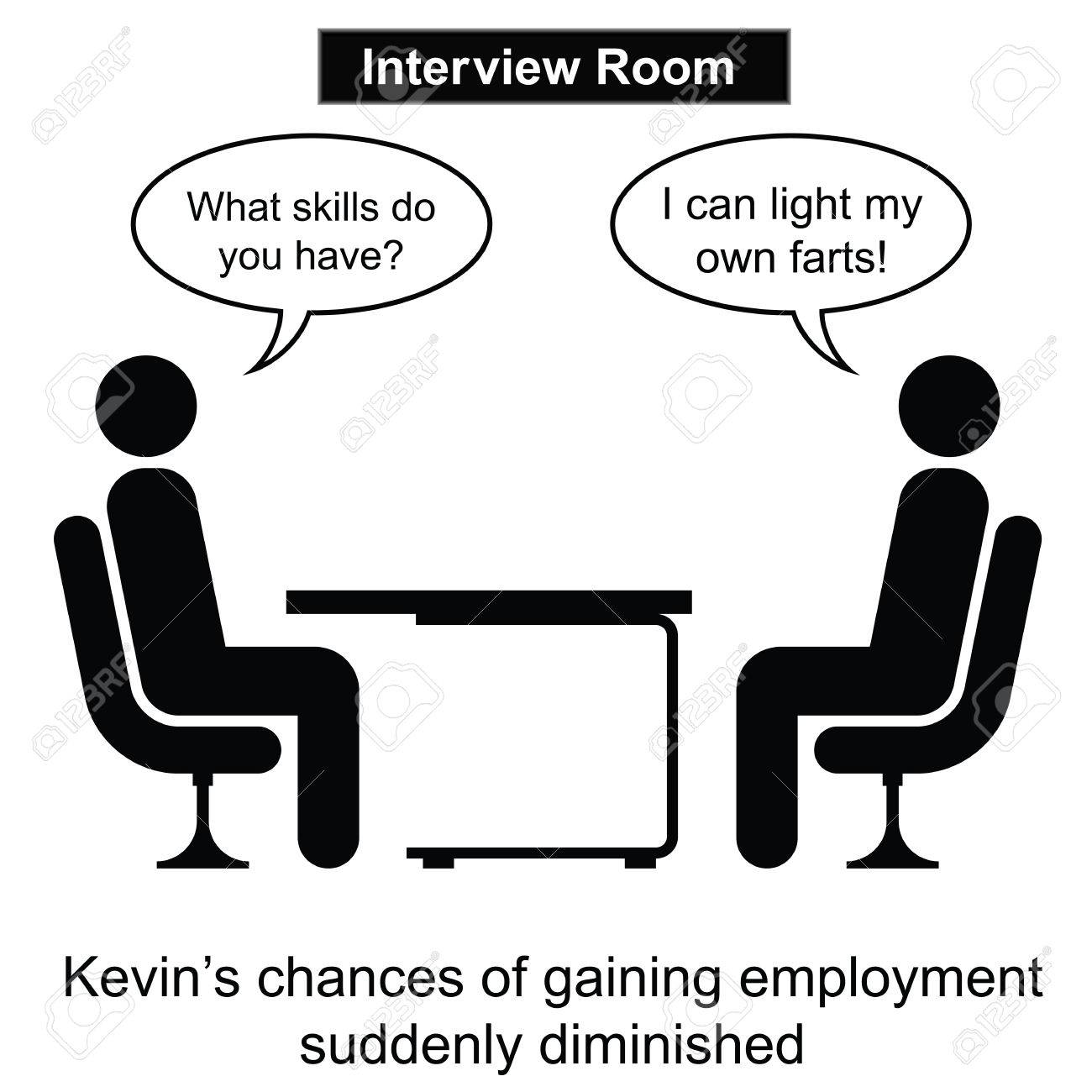 job interview cartoon stock photos pictures royalty job job interview cartoon kevin failed at yet another job interview cartoon isolated on white background