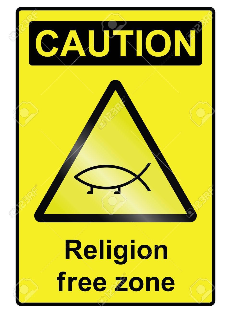 Religion Freie Zone Zeichen Auf Weißem Hintergrund Isoliert Lizenzfrei  Nutzbare Vektorgrafiken, Clip Arts, Illustrationen. Image 29760639.
