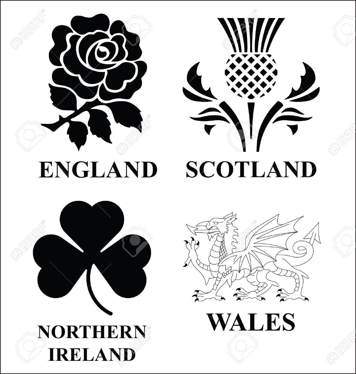 United Kingdom emblems - 32007431