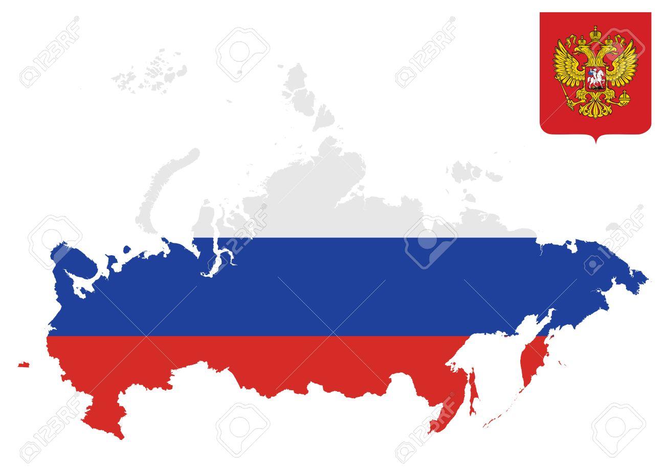 旗、白い背景で隔離の概要地図に...