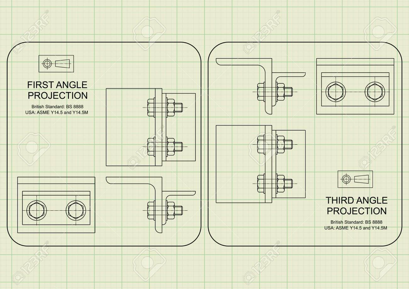 Exemple De Projection Orthographique Du Premier Angle Dessin Sur