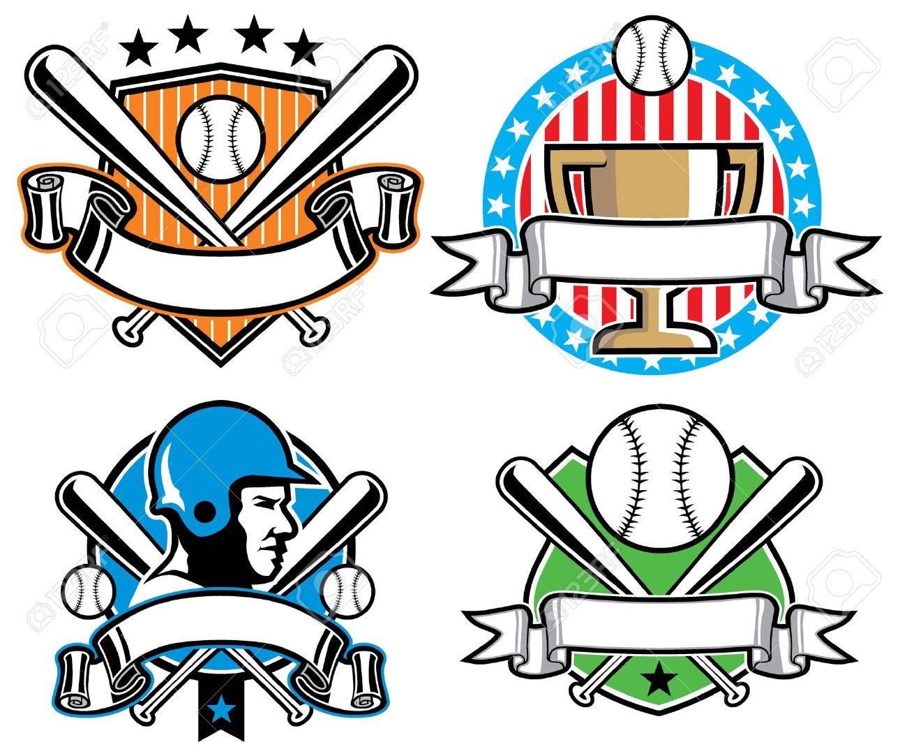 Baseball badge set - 18727066