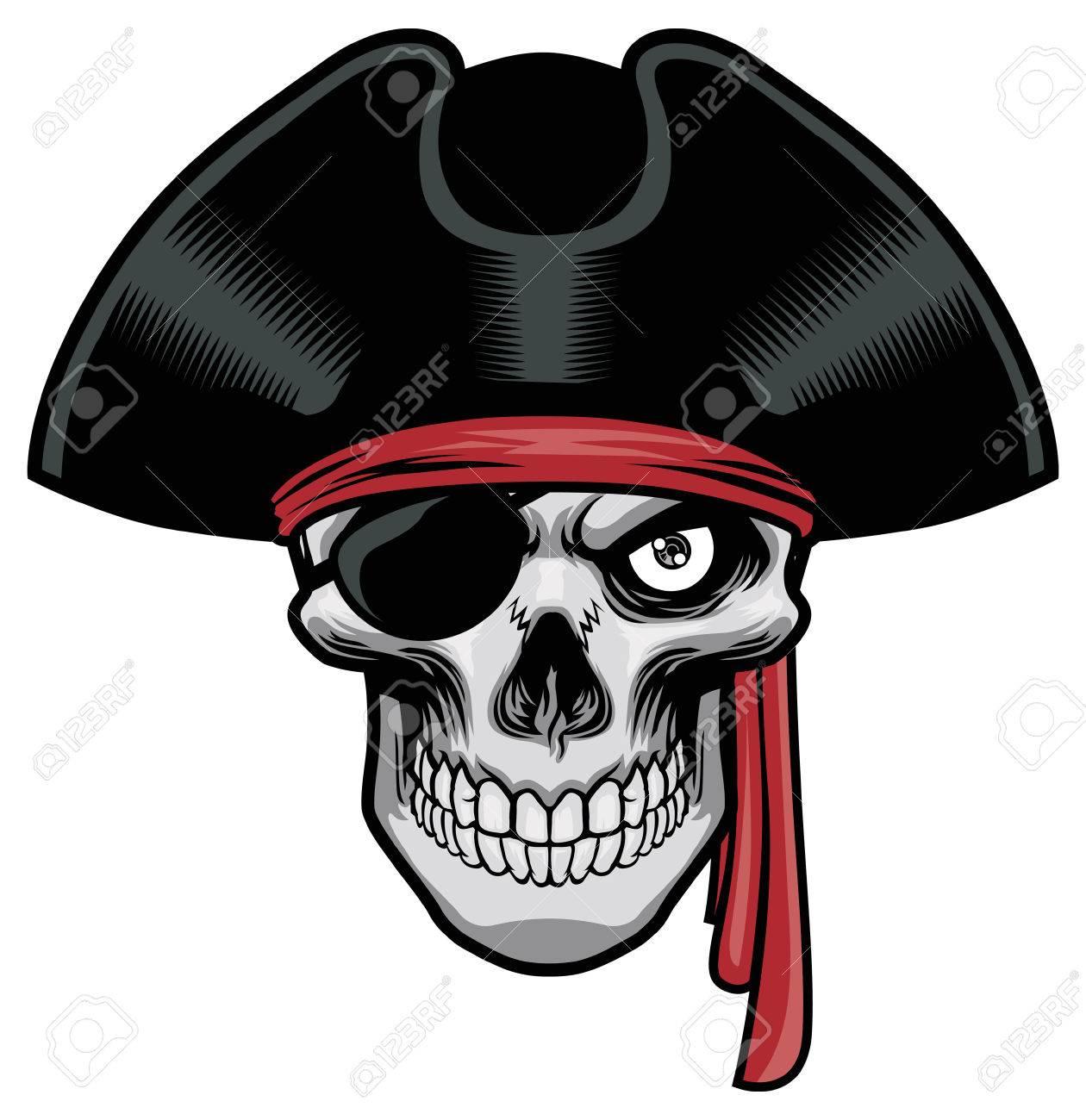 skull of pirate - 59267197
