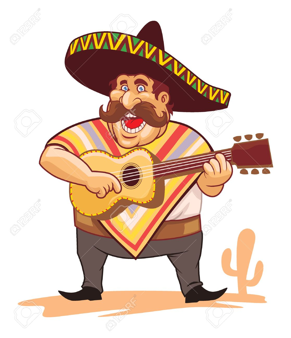 mexican man singing and palying guitar - 59378862