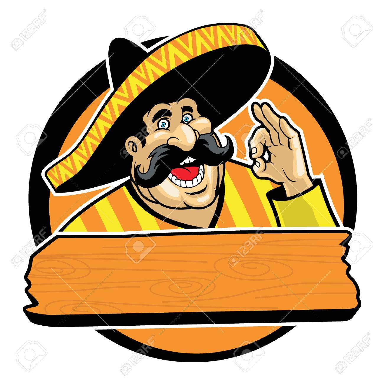 Happy Mexican male with sombrero and okay hand sign - 59721557