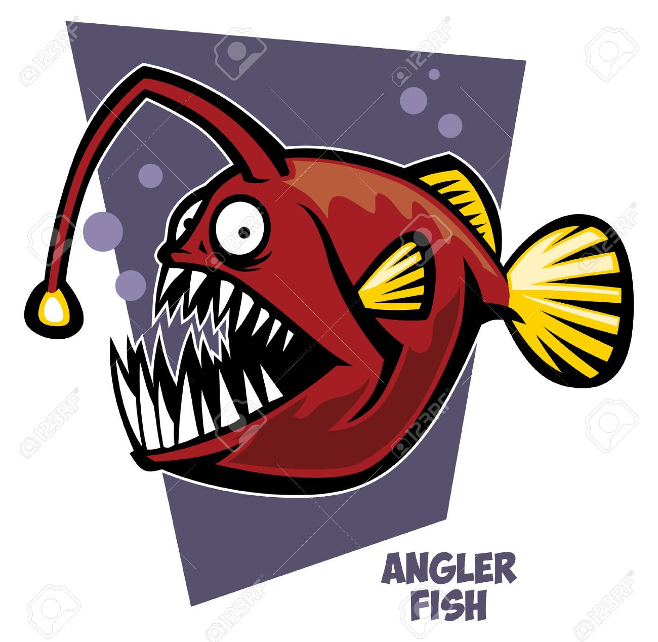 Cartoon Of Angler Fish Royalty Free Cliparts, Vectors, And Stock ...