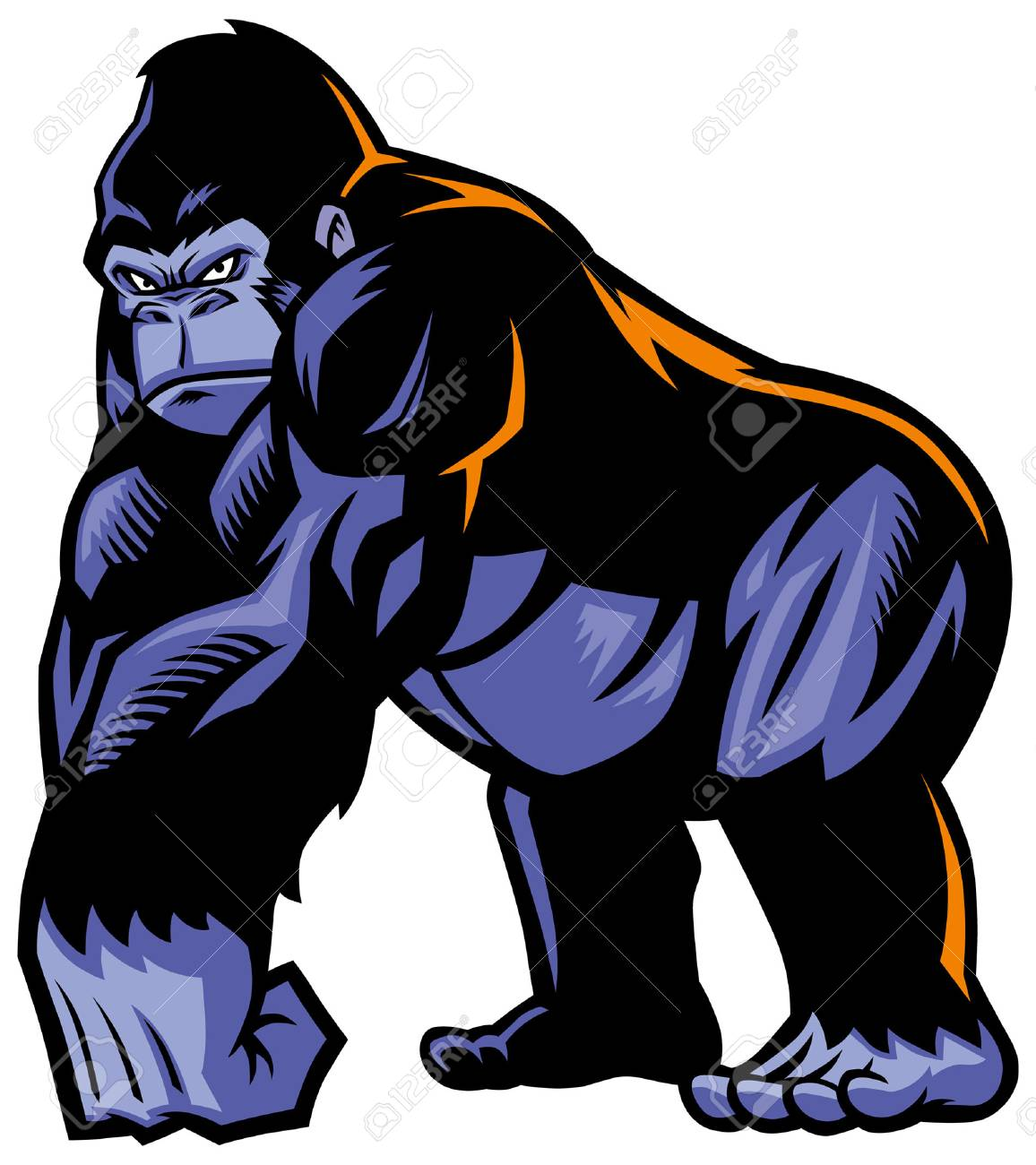 big gorilla mascot with muscle giant body - 103834736