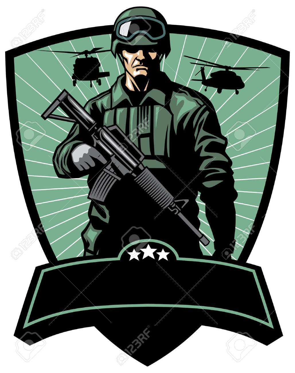 soldier army badge - 103834746
