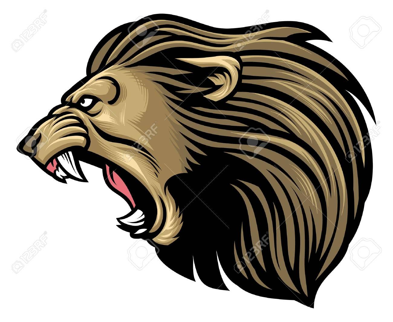 angry lion mascot - 122196748