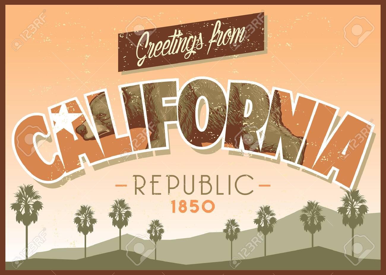 california greeting design - 126488570