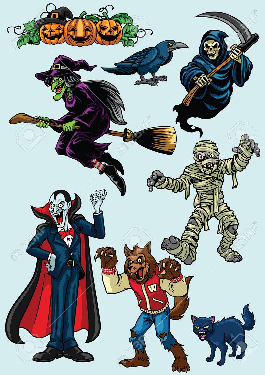 set of halloween character set - 165285269