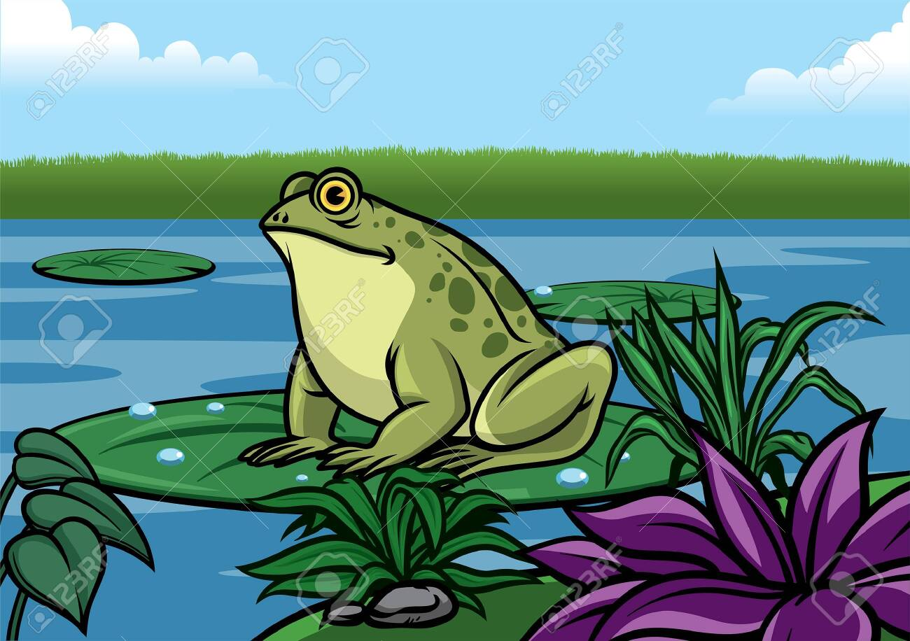 frog in the lake - 131900789