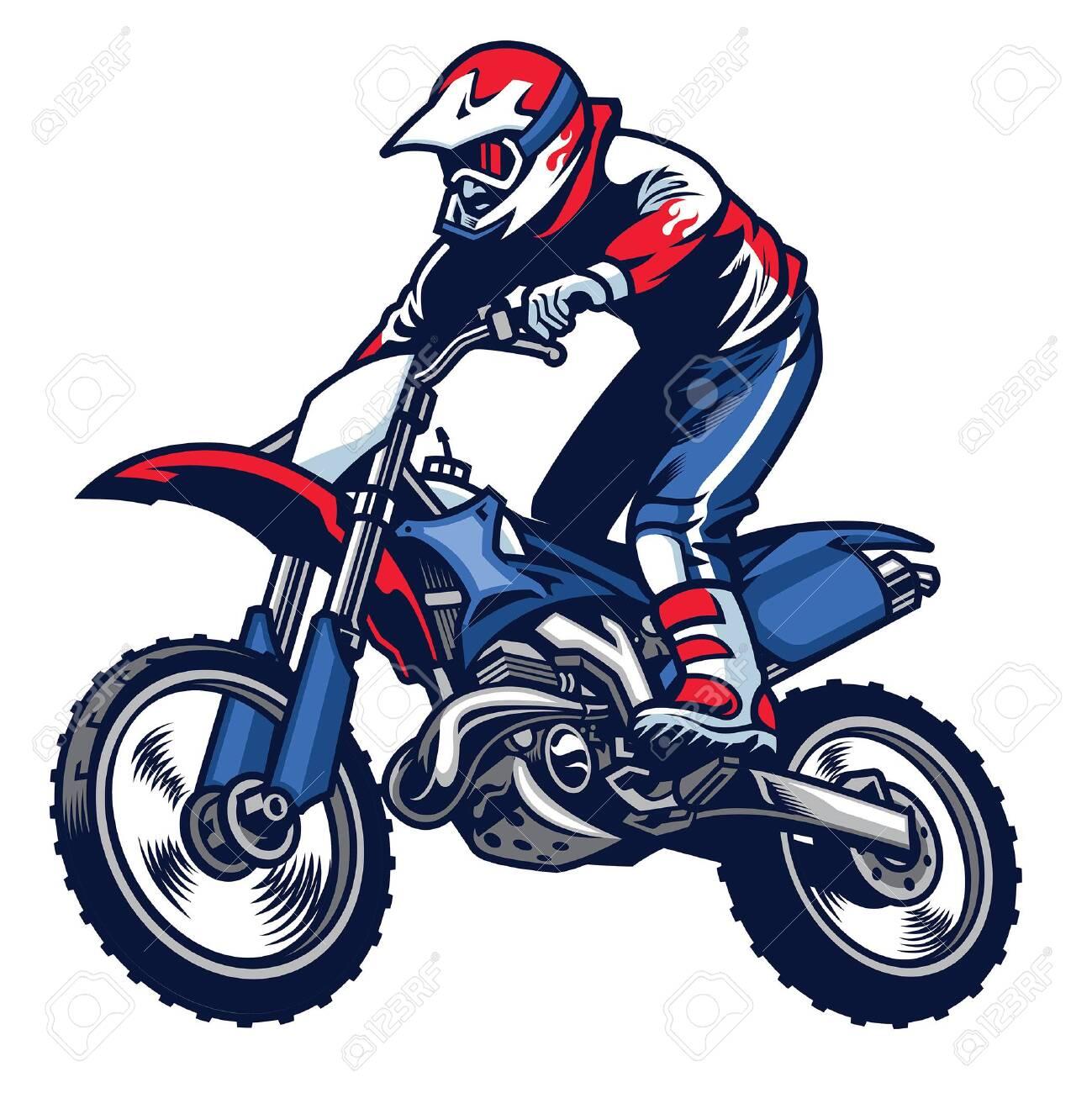 jumping motocross race - 132478596