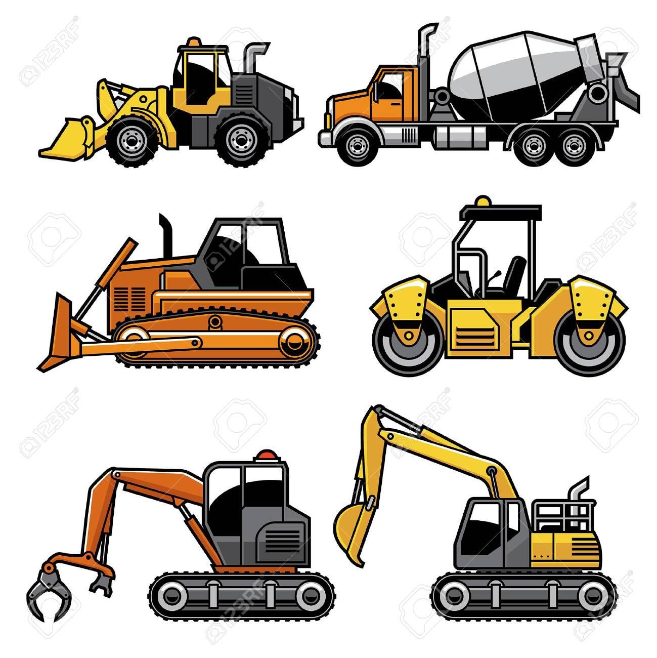set bundle of heavy engine truck machine - 134100395