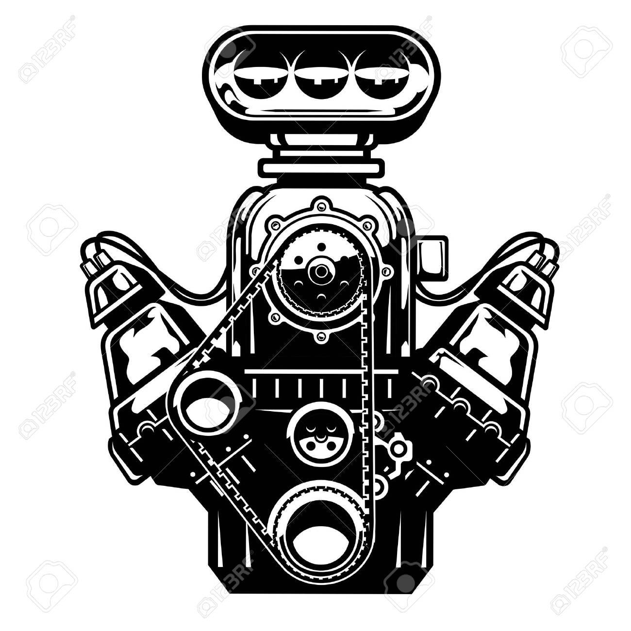 big muscle car engine - 150666778